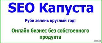 SEO Капуста - онлайн бизнес без собственного продукта